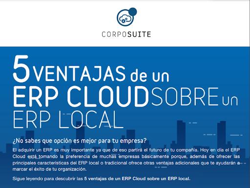 INFOGRAFIA 5 ventajas de un ERP Cloud sobre un ERP Local
